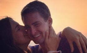 Lucy Aragon and boyfriend Evan Spiegel.
