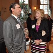 Joe Cardenas of BB&T Bank and honoree Lynne Wines of First Southern Bank.