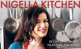 Celebrity chef Nigella Lawson, shown here on the cover of her book,