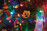 A handmade Mickey Mouse ornament was given to Dr. Russell as a gift from one of her patients, who have come to know how much she loves Disney.