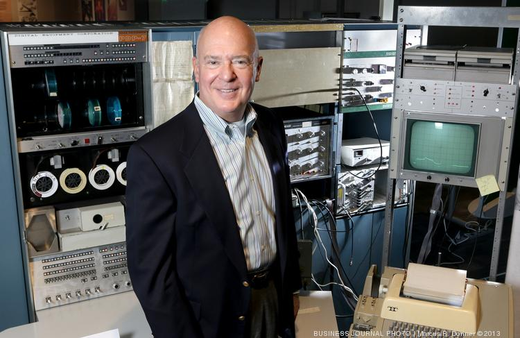 2013 CIO Award Lifetime Achievement honoree Robert Reeder is the retired chief information officer and senior vice president for Alaska Air Group Inc. At the Living Computer Museum, Reeder stands with a Digital Equipment Corp. mainframe from 1966 that was used by the University of Oregon Physics Lab for 30 years.