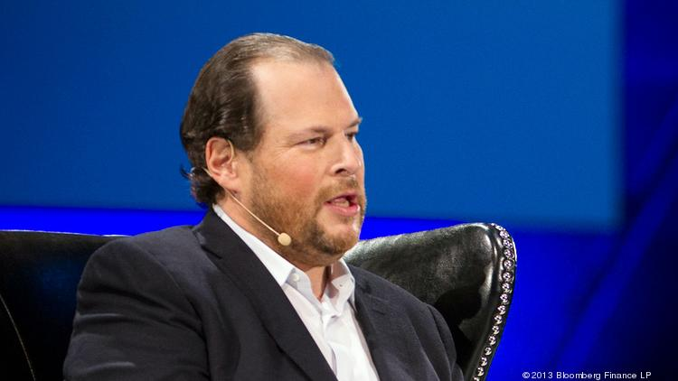 Marc Benioff at 2013 Dreamforce conference.
