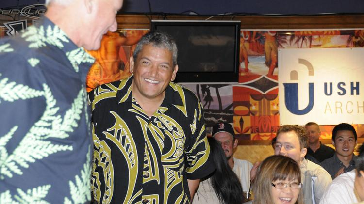 Big Island Mayor Billy Kenoi, seen in this 2013 file photo at the Downtown Athletic Club's luncheon at Hukilau Honolulu, says Hawaii County is moving full steam ahead with construction of the Mamalahoa Bypass road, slated to begin later this summer.