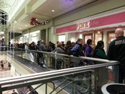 Thursday night openings attracted many young people at Mayfair and other Milwaukee-area malls. Lines formed outside stores such as Pink.