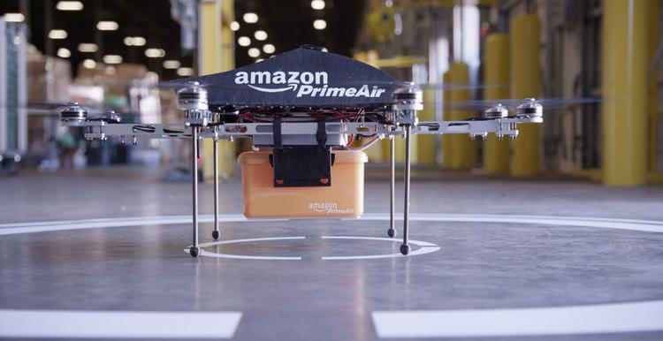 Amazon says it will seek approval from the FAA to deliver packages by drone.