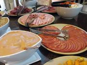 A selection of cured meats at the Hyatt Regency Thanksgiving buffet.