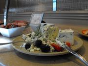 A selection of cheeses at the Hyatt Regency Thanksgiving buffet.