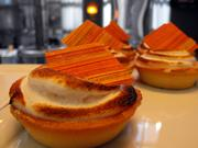 Flan was one of many dessert choices at the Hyatt Regency's Thanksgiving buffet.