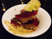 Chicken liver pate with port wine jelly at the Hyatt Regency Thanksgiving buffet.