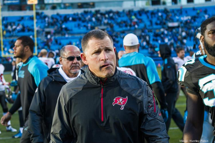 Tampa Bay Buccaneers Head Coach Greg Schiano after the Carolina Panthers defeated the Buccaneers 27-6 in a Dec. 1, 2013 game at Bank of America Stadium in Charlotte.
