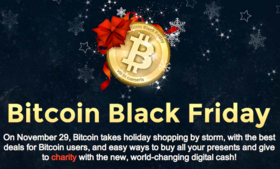 Bitcoin Black Friday started last year as an informal event in bitcoin forums, and this year saw explosive growth