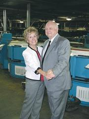 72. Purcell Tire & Rubber Co. 2012 revenue: $255 million (estimate) Robert Purcell, chairman and CEO, pictured with his wife, Juanita, executive vice president