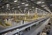 The fulfillment facility has a total of eight miles of conveyors.