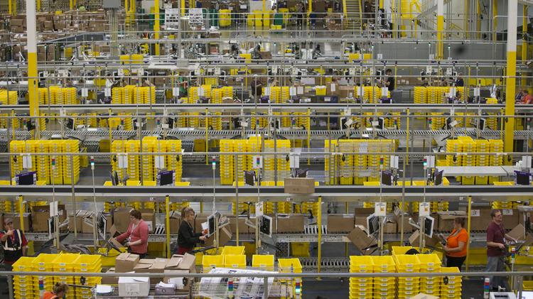 Amazon.Com opened a fulfillment center in Schertz that specializes in shipping large bulky big ticket items.