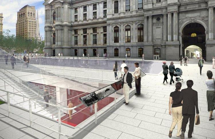 A rendering of Dilworth Plaza at City Hall.