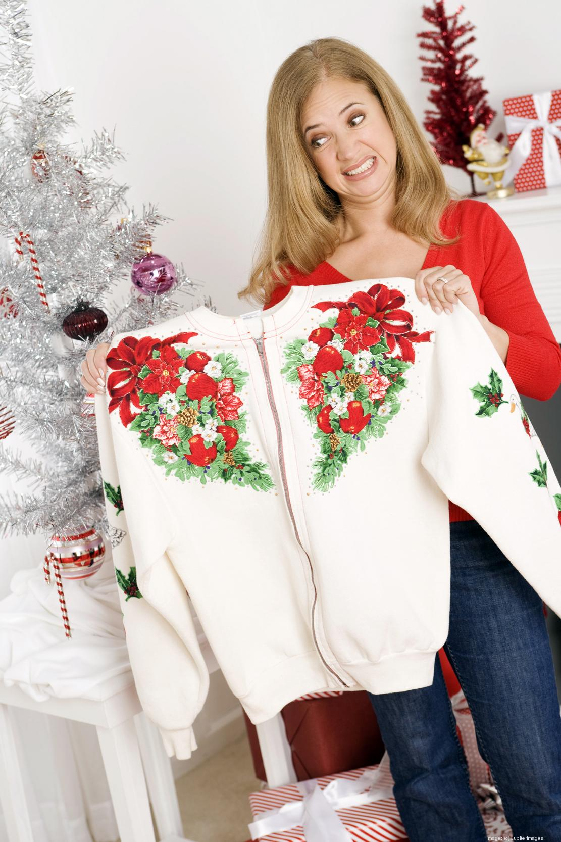 Ugly Christmas sweater season already going at thrift ...