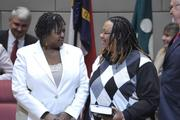 Family members joined City Council representatives as they took the oath of office. Pictured is LaWana Mayfield, District 3.