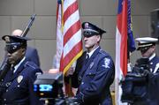 Charlotte Fire Department and Charlotte Police Department Honor Guards also took part in the ceremony.