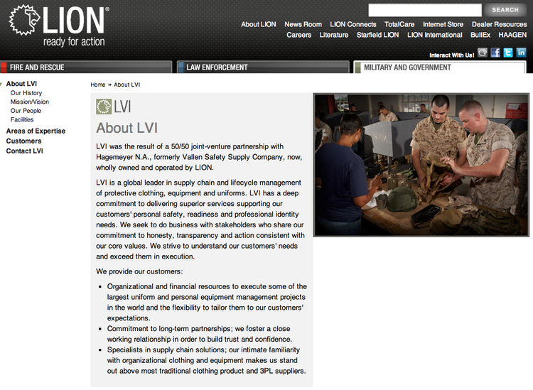 Lion-Vallen Industries was awarded the seven-year contract for third party logistics support for the U.S. Army and federal civilian agencies.