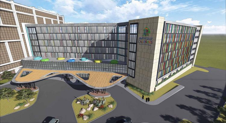 Rendering of planned expansion of Methodist Children's Hospital