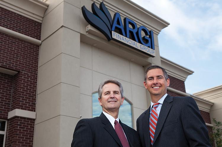 ARGI senior partner Ron Butt, left, is shown with managing partner Joe Reeves outside of their Louisville office. ____________________________________________      ARGI Financial Group LLC Description: Comprehensive financial-planning firm Founded: 1996 Owners and senior partners: Ron Butt and Joe Reeves Employees: 64, including 46 locally Address: 1914 Stanley Gault Parkway Website: www.argi.net  ____________________________________________      Milestones 2013: Added 10 employees, four in Louisville and six in Cincinnati. October 2012: Formed the Charitable Giving Committee and chose Family Scholar House Inc. as its partner. Family Scholar House gives single-parent students the support they need to earn a four-year college degree. ARGI was Family Scholar House's largest annual fund donor and created and ran a financial literacy program for Family Scholar House's members. December 2012: Closed out the year with a 32 percent increase in sales over the year before. May 2013: Chosen by GE Aviation in Cincinnati to provide financial education to GE's employees. June 2013: Purchased two lots adjacent to the company's Louisville headquarters building with the goal of building out as much as 24,000 additional square feet. July 2013: Acquired KD Fiduciary Asset Management Inc. and hired KD's owner, Kristin Dunlevy, for the role of qualified plan services manager.