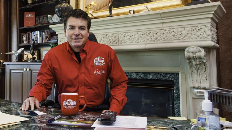 John Schnatter in his office at corporate headquarters.