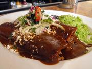 Almonds are among the many ingredients in the mole sauce at Zocolo.
