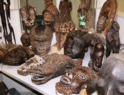 These are some of the antique African art items included in an anonymous donation to Tacoma Goodwill. The collection included pieces from Cameroon, Burkina Faso, Mali, Congo, Tanzania and Mozambique.