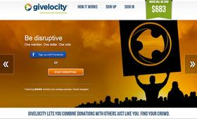 For $1 a month, Givelocity supporters can vote on where collective donations go.