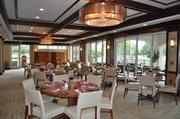 Part of the renovations to the clubhouse included the dining room.
