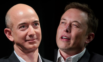 Elon Musk duels Jeff Bezos for space supremacy