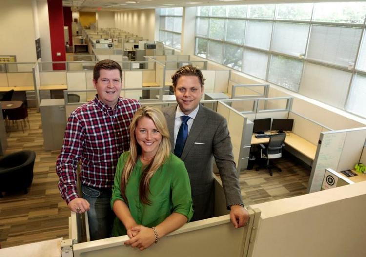 The Dallas Entrepreneur Center founders Jeremy Vickers, Jennifer Conley, Trey Bowles celebrated the center's national launch Tuesday.