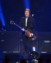 Paul McCartney enjoys one of many ovations during the opening night of his Out There Tour at Amway Center.