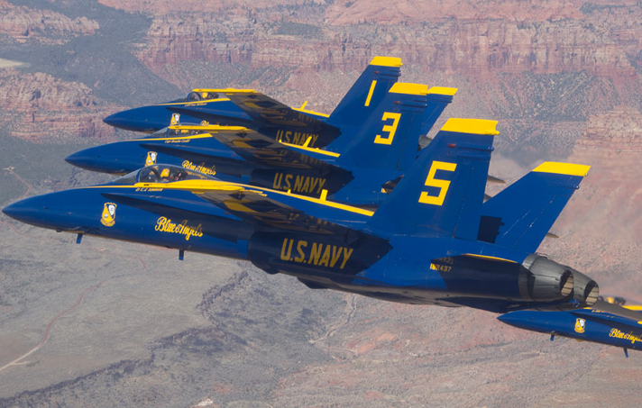 The U.S. Navy's Blue Angels flying team will return to Kansas City in 2015.