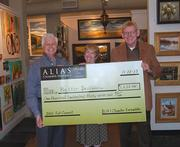 """The Grammy-nominated ALIAS Chamber Ensemble presented a check for $1,237.45 to Better Decisions recently as the recipient of the proceeds of ALIAS' most recent concert. ALIAS adopts three nonprofit partners each season, and shares the spotlight with one nonprofit at every series performance. This """"spotlight"""" nonprofit partner has the opportunity to share its message with the audience, and receives 100 percent of the proceeds from that concert…no strings attached.  From left: Stacy Widelitz, ALIAS Board Chair; Kathy Masulis, Executive Director of Better Decisions, and Jim Robert, Executive Director of ALIAS Chamber Ensemble."""