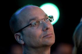 Andy Rubin, the former senior vice-president of Google Inc.'s mobile division, now in charge of its robotics project attends the launch event for the Samsung Electronics Co. Galaxy Nexus smartphone, running Google's Ice Cream Sandwich Android operating system, in Hong Kong, China, on Wednesday, Oct. 19, 2011.