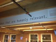 Exposed roof beams and catch phrases permeate Gryro's new LoDo office.