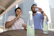 August: Adam Louras , left, and Jonathan Rosenberg started Koa water in 2011 after looking for a healthy juice alternative. Although the drink looks like water, it is actually juice made from California fruits and vegetables.