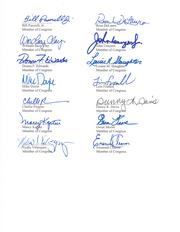 Fifty-three Democratic members of Congress signed the letter.
