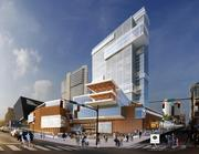 Another view of the proposed office tower on the Nashville Convention Center site.