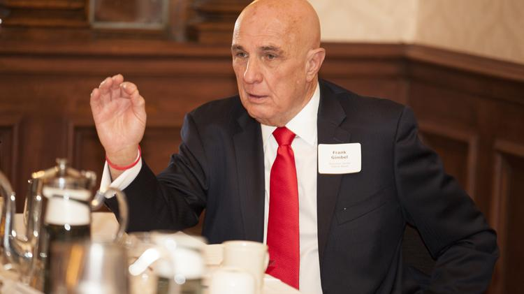 Frank Gimbel, chairman of the Wisconsin Center District, is leading efforts to expand Milwaukee's convention center.
