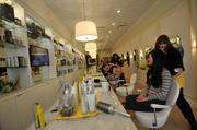 Customers lined up for the grand opening of Drybar in Union Square.