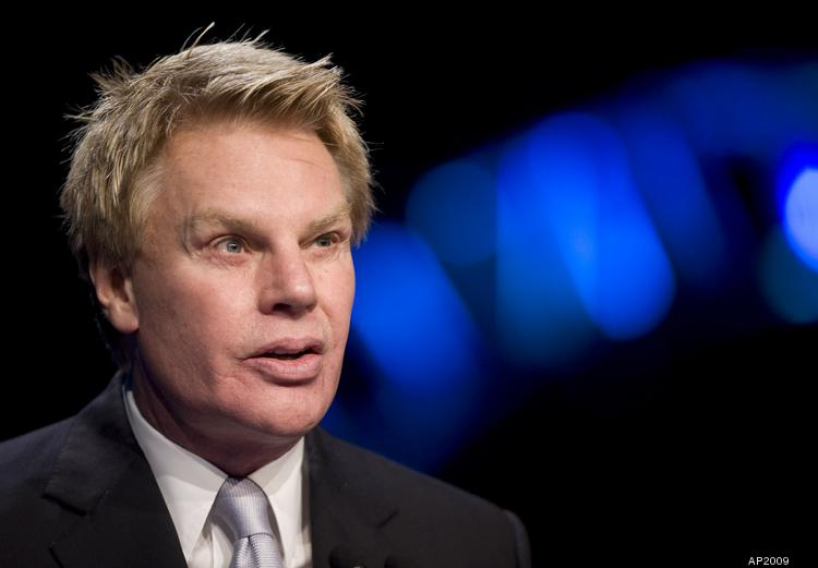 Michael Jeffries, CEO of Abercrombie & Fitch, is seen speaking at a National Retail Federation conference in 2009 in the only photograph of him available from the Associated Press.