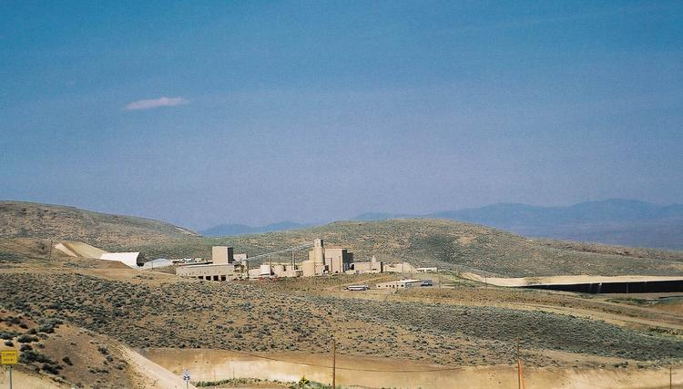 Newmont Mining Corp's Midas mine in north central Nevada.