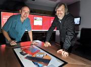 T1 Vision is led by Jim Morris, chief technology officer   (left), and Mike Feldman, president.