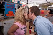 BaconFester's also got a chance to kiss Atlanta icon and Claremont Lounge entertainer Blondie, who made a guest appearance in the Sanitary Smooch booth.