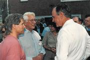 Jim Evans and Carl Lindner Jr., here with President George H.W. Bush, were active in Republican politics and fundraising through the years.