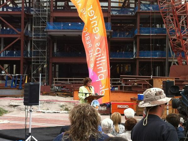 Orange County Mayor Teresa Jacobs announces that the county will move forward with a $25 million contribution to the Dr. Phillips Center for Performing Arts' second phase.