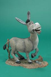"Donkey from the toy line for the animated film, ""Shrek."""