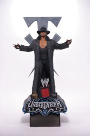 Limited-edition statue of World Wrestling Entertainment Inc.'s Undertaker produced by McFarlane Toys.